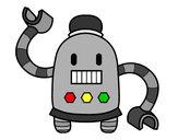Desenho Robô com braços longos pintado por Japs
