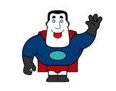 Desenho Saudação de super-heróis pintado por caca