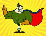 Desenho Super-herói pintado por kaio
