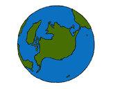 Desenho Planeta terra pintado por caiobrumel