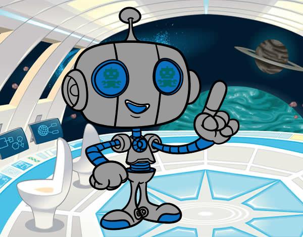 Desenho Robô simpático pintado por Robert