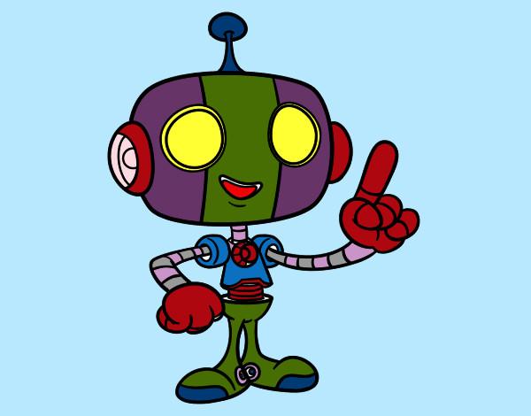 Desenho Robô simpático pintado por Nilza