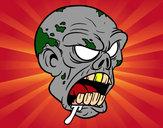 Desenho Cabeça de zombie pintado por LucasEvans