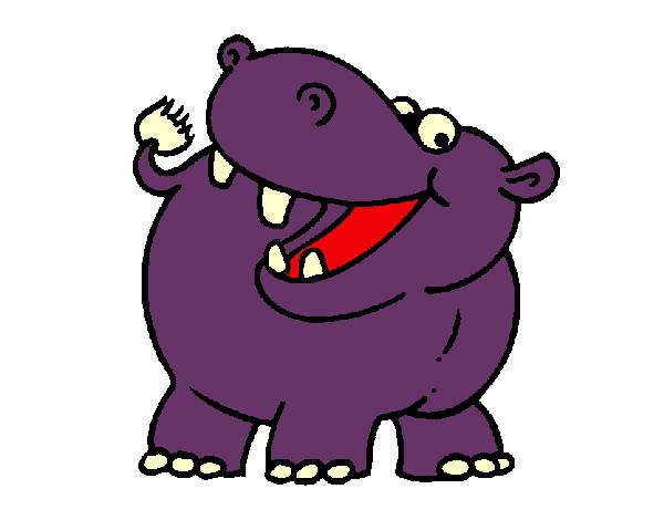 Desenho de Hippo pintado e colorido por Rita o dia 11 de ... Zebra Weight