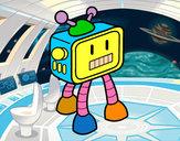Desenho Robot TV pintado por GabrielFil