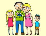 Desenho Família unida pintado por pamela