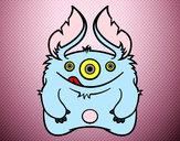 Desenho Monstro peludo pintado por pingmane
