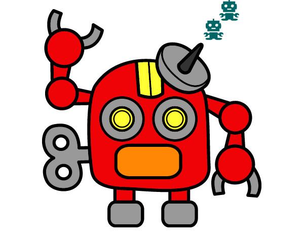 Desenho Robô com antena pintado por luka_ga