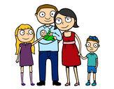 Desenho Família unida pintado por Laila