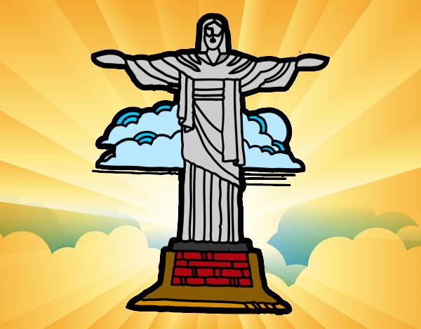Suficiente Desenho de Cristo Redentor - RJ pintado e colorido por Izabelle o  KN21