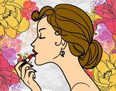 Desenho Maquiagem dos lábios pintado por lorrane