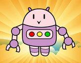 Desenho Robô com pinças pintado por lorrane