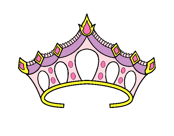 desenho de princesa pintado e colorido por luizam o dia 01 de março