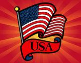 Desenho Bandeira dos Estados Unidos pintado por PartOfMe