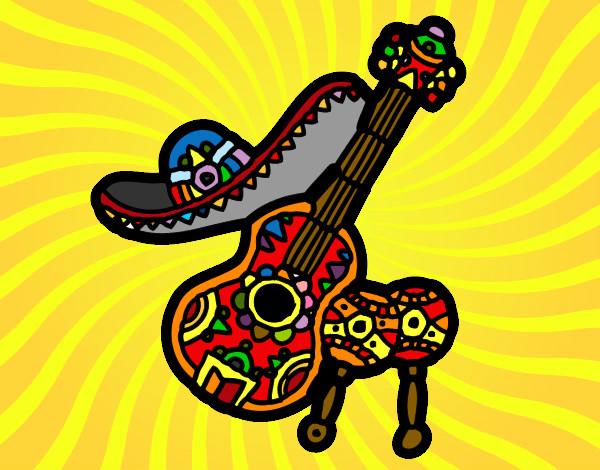 desenho de la cultura mexicana pintado e colorido por alefe03 o dia