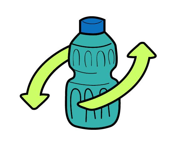 desenho de reciclar embalagem pintado e colorido por aninhaa o dia