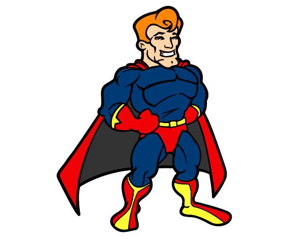 Desenho Super-herói musculoso pintado por matheus7