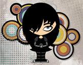 Desenho Olha Emo pintado por BiancaRose