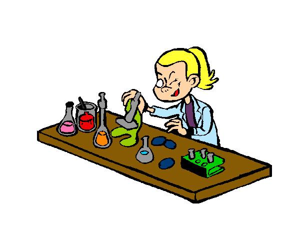 desenho de cientista pintado e colorido por laila o dia 21 de março