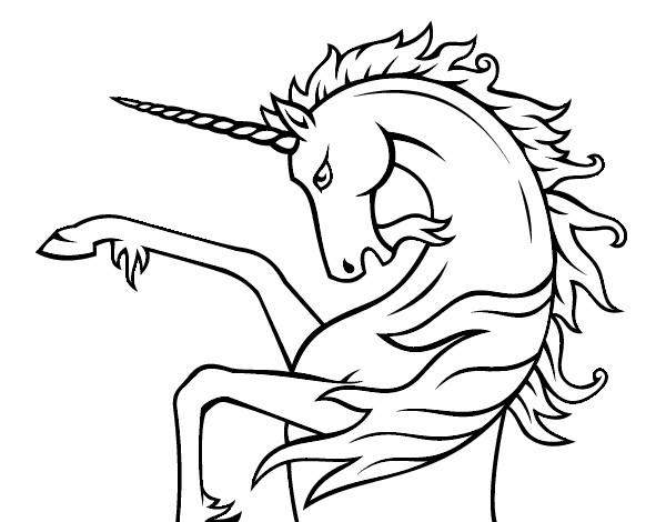Desenho Unicórnio selvagem pintado por crazybitch