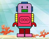 Desenho Robô alto pintado por Nilza