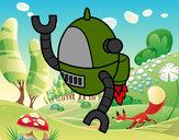 Desenho Robô voador pintado por godim