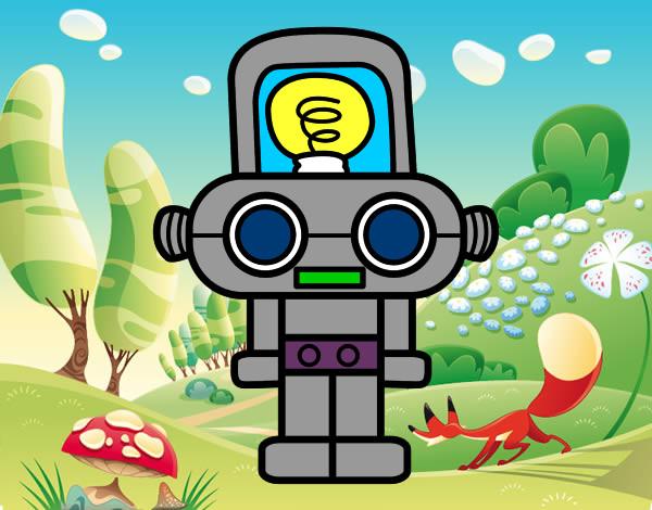 Desenho Robô com luz pintado por caiosz