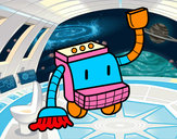 Desenho Robô de limpeza pintado por Giovanni