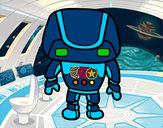 Desenho Robô forte pintado por dani