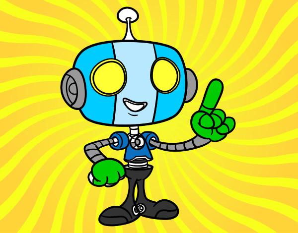 Desenho Robô simpático pintado por caiosz