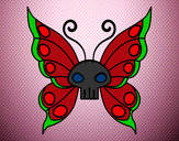 Desenho Borboleta Emo pintado por Maah