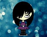 Desenho Olha Emo pintado por lilan124