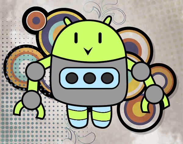 Desenho Robô com pinças pintado por biatxavier