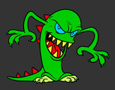 Desenho Monstro malicioso pintado por brunorket
