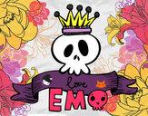 Desenho Love Emo pintado por lolapink