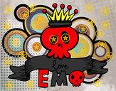 Desenho Love Emo pintado por samuel