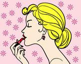 Desenho Maquiagem dos lábios pintado por juju1605