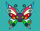 Desenho Borboleta Emo pintado por ellencarol