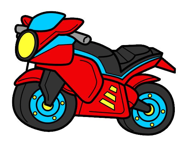 Desenho de moto pintado e colorido por Fortinho o dia 19 de Junho do