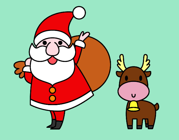 Santa Claus and Reindeer Rahnne