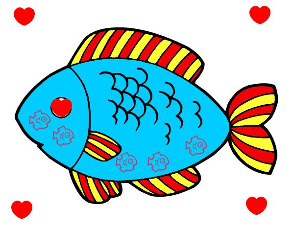 Desenho Peixe para comer pintado por angie