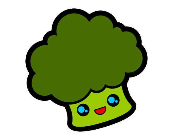 desenho de brócolis pintado e colorido por vycklinda o dia 28 de