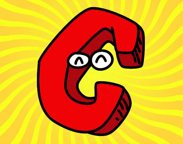 desenho de c pintado e colorido por leal o dia 04 de julho do 2012