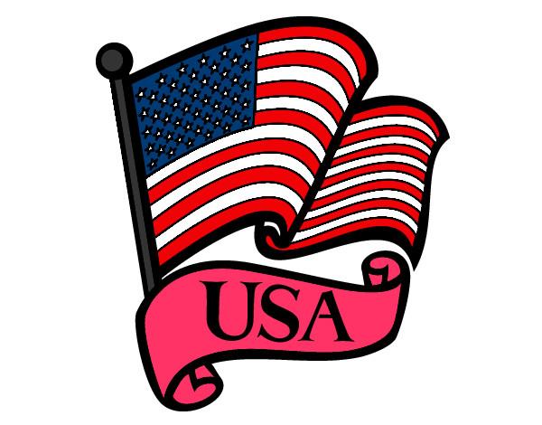Desenho Bandeira dos Estados Unidos pintado por Andreza17