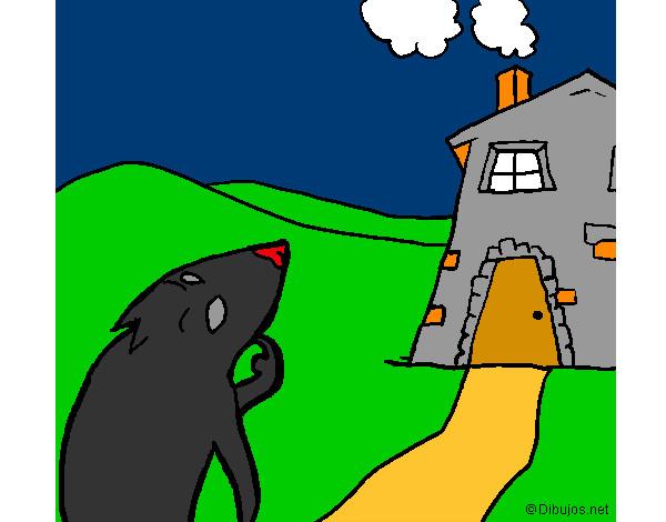 Os Três Porquinhos-O Lobo Mau Olha a Casa de Tijolos