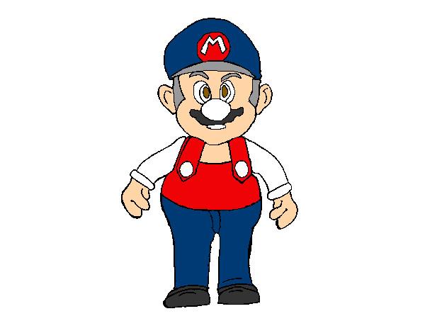 Desenho De Super Mario Pintado E Colorido Por Biahbomfim O