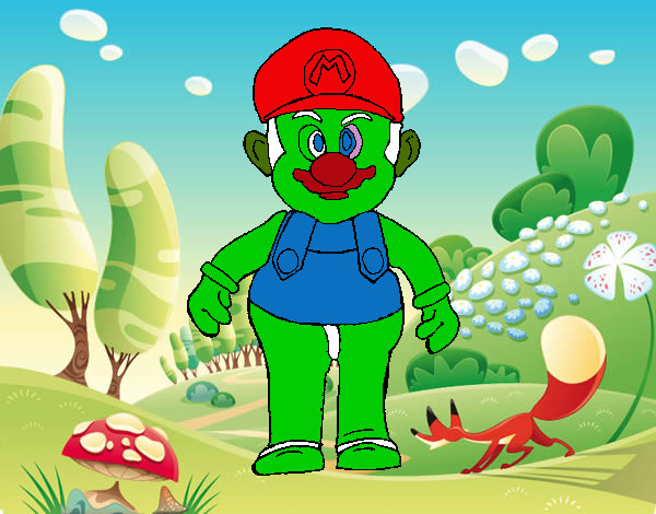 Desenho De Mario Pintado E Colorido Por Kauanhamor O Dia