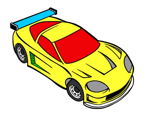 Desenho De Carro Moderno Pintado E Colorido Por Gabriel444