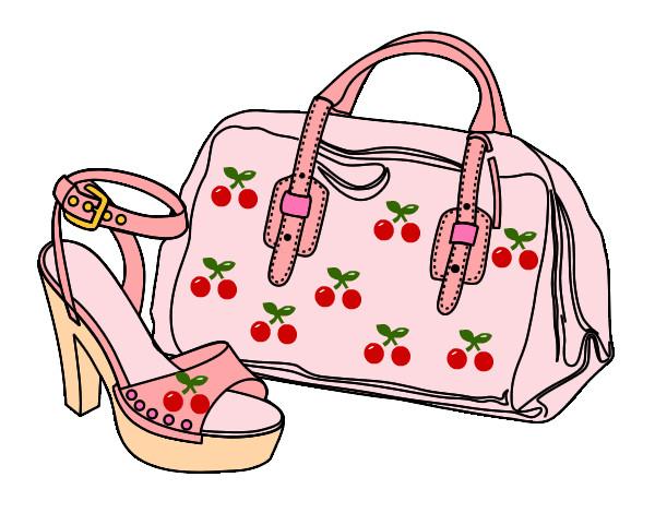 a86987194 Desenho de Bolsa e sapato fashion pintado e colorido por Laila o dia ...