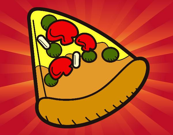 desenho de pizza pintado e colorido por helen2012 o dia 24 de agosto
